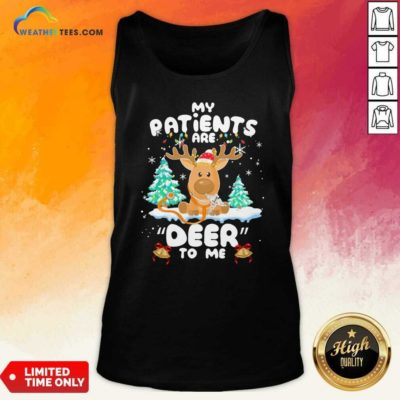 Reindeer My Patients Are Beer To Me Christmas Tank Top - Design By Weathertees.com