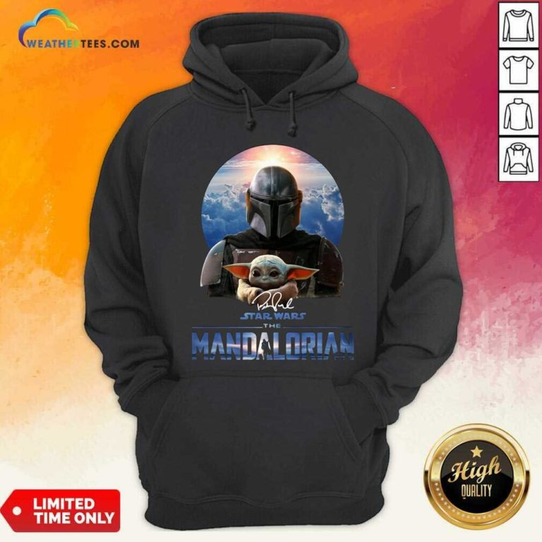 Star Wars The Mandalorian And Baby Yoda Signature Hoodie - Design By Weathertees.com