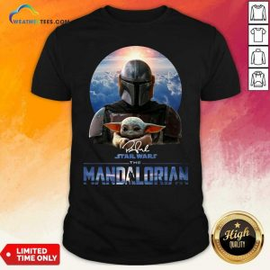 Star Wars The Mandalorian And Baby Yoda Signature Shirt - Design By Weathertees.com