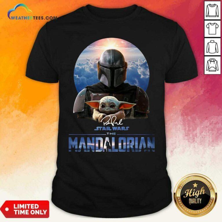 Star Wars The Mandalorian And Baby Yoda Signature Shirt - Design By Weathertees.com