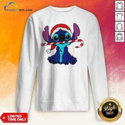 Stitch Wear Hat Santa Claus Merry Christmas Sweatshirt - Design By Weathertees.com