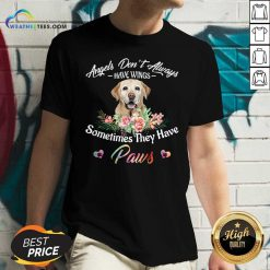 Angels Don't Always Have Wings Labrador Retriever Sometimes They Have Paws V-neck - Design By Weathertees.com
