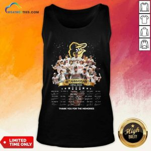 Baltimore Orioles 66th Anniversary 1954 2020 Thank You For The Memories Signatures Tank Top - Design By Weathertees.com