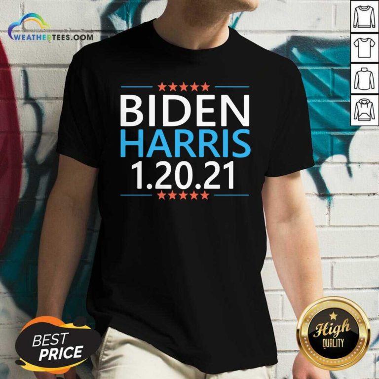 Biden Harris President Inauguration Day 2021 V-neck - Design By Weathertees.com