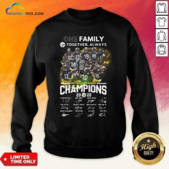 One Family Pittsburgh Steelers Together Always Nfc North Division Champions Signatures Sweatshirt - Design By Weathertees.com
