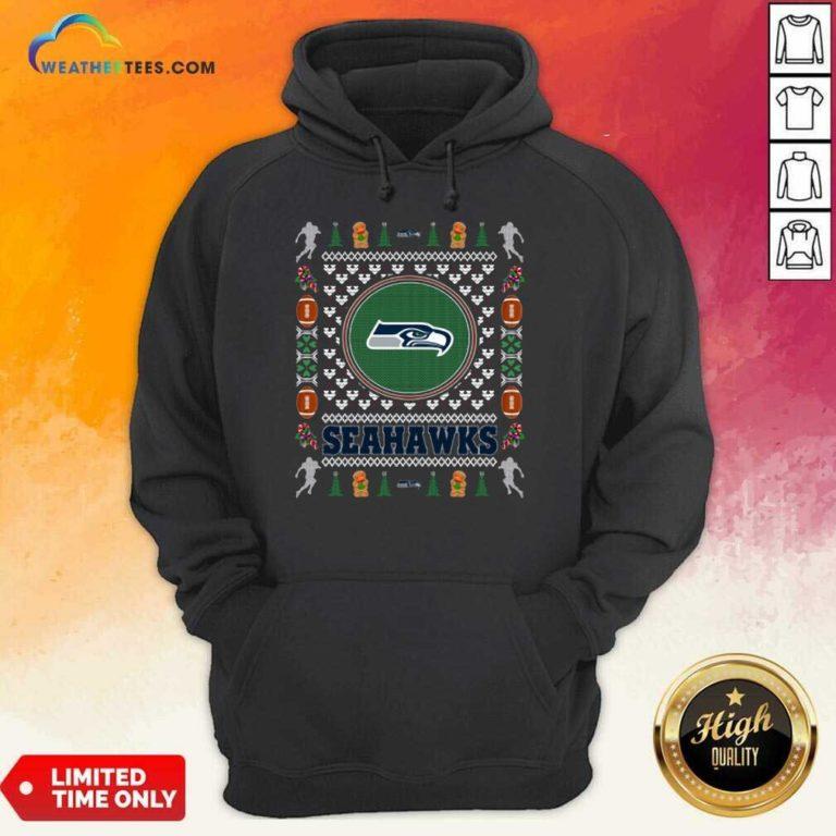 Seattle Seahawks Merry Christmas Hoodie - Design By Weathertees.com