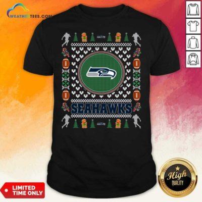 Seattle Seahawks Merry Christmas Shirt - Design By Weathertees.com
