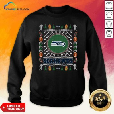 Seattle Seahawks Merry Christmas Sweatshirt - Design By Weathertees.com