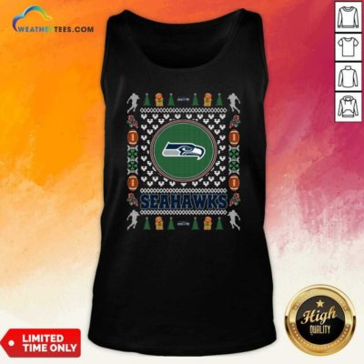 Seattle Seahawks Merry Christmas Tank Top - Design By Weathertees.com