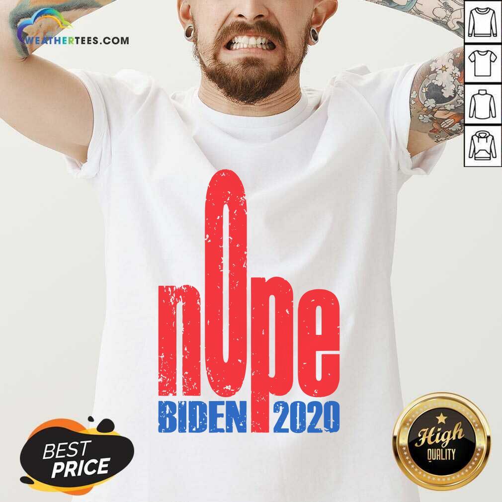 Biden 2020 Nope President Election V-neck - Design By Weathertees.com
