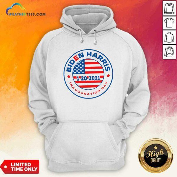 Biden Harris 1 20 2021 Inauguration Day American Flag Hoodie - Design By Weathertees.com