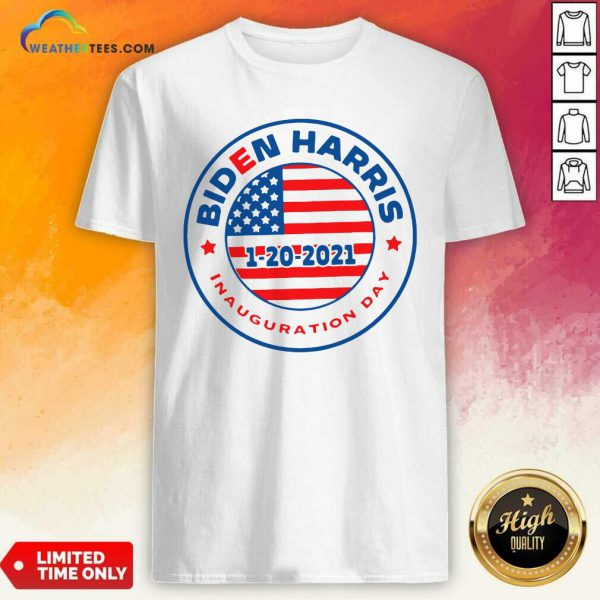 Biden Harris 1 20 2021 Inauguration Day American Flag Shirt - Design By Weathertees.com