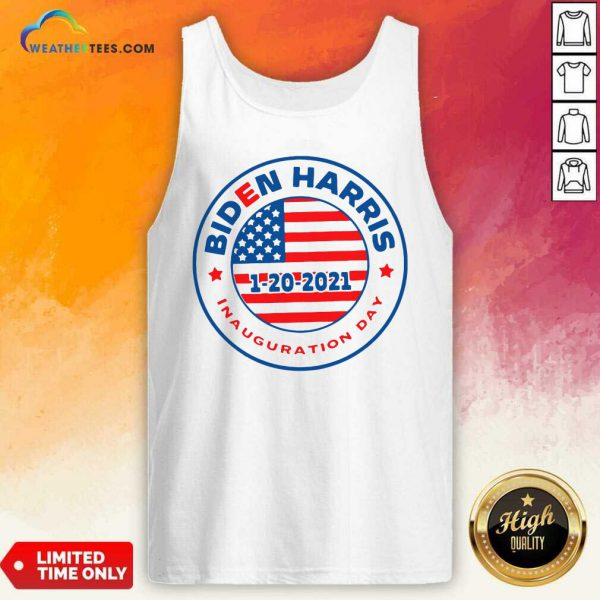 Biden Harris 1 20 2021 Inauguration Day American Flag Tank Top - Design By Weathertees.com