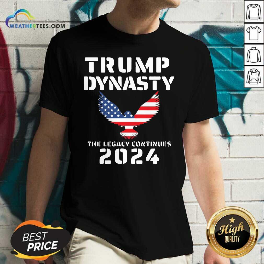 Donald Trump Dynasty The Legacy Continues 2024 V-neck - Design By Weathertees.com