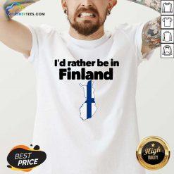 I'd Rather Be In Finland V-neck - Design By Weathertees.com