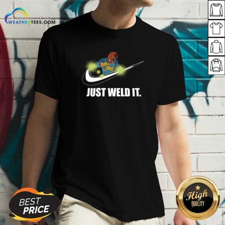 Just Weld It V-neck - Design By Weathertees.com