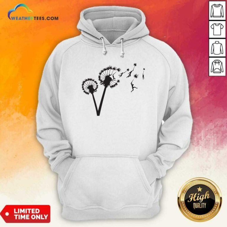 Dandy Lion Flower Hoodie - Design By Weathertees.com