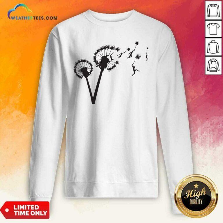 Dandy Lion Flower Sweatshirt - Design By Weathertees.com
