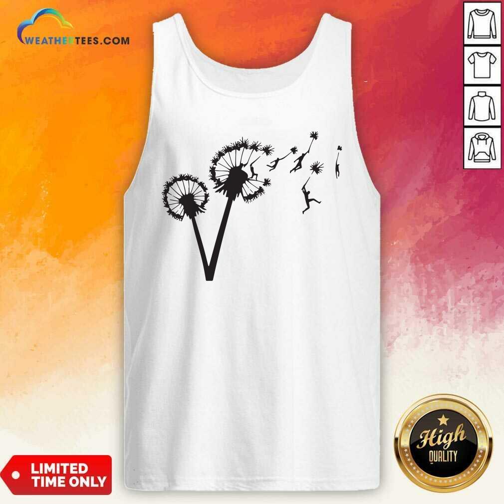 Dandy Lion Flower Tank Top - Design By Weathertees.com