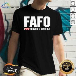 Fafo Fuck Around And Find Out V-neck - Design By Weathertees.com