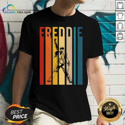 Freddie Mercury Vintage V-neck - Design By Weathertees.com
