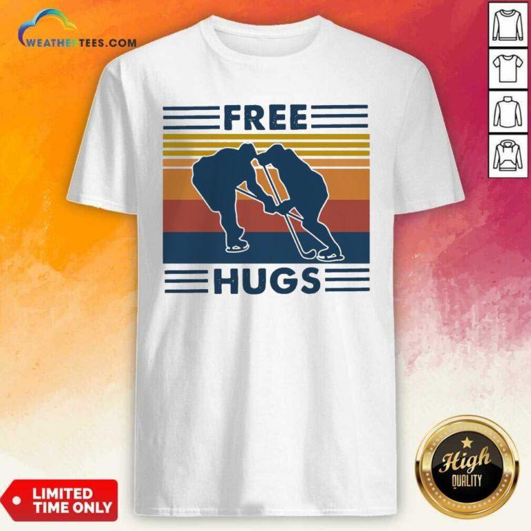 Free Hugs Vintage Retro Shirt - Design By Weathertees.com