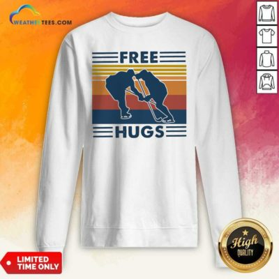 Free Hugs Vintage Retro Sweatshirt - Design By Weathertees.com