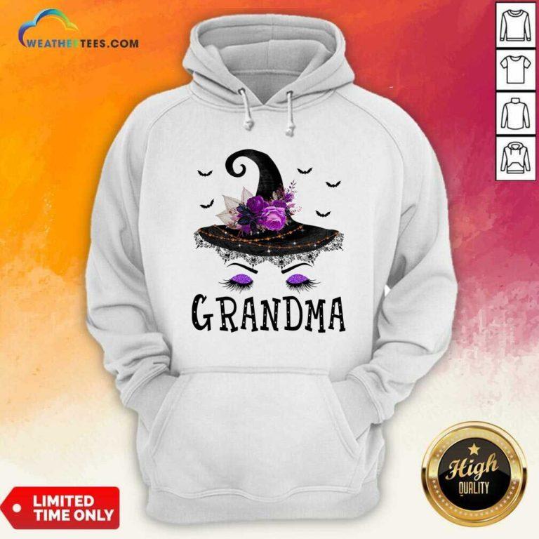 Grandma Witch Hat Halloween Hoodie - Design By Weathertees.com