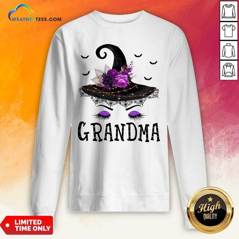 Grandma Witch Hat Halloween Sweeatshirt - Design By Weathertees.com