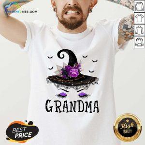 Grandma Witch Hat Halloween V-neck - Design By Weathertees.com