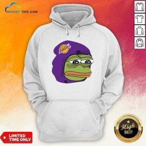 Los Angeles Lakers Sad Pepe The Frog Hoodie - Design By Weathertees.com