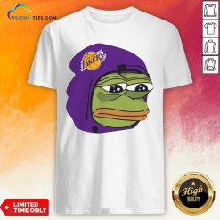 Los Angeles Lakers Sad Pepe The Frog Shirt - Design By Weathertees.com