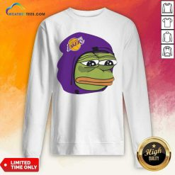Los Angeles Lakers Sad Pepe The Frog Sweatshirt - Design By Weathertees.com