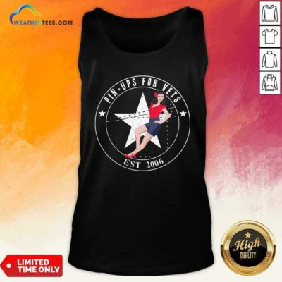 Pin Ups For Vets Est 2006 Tank Top - Design By Weathertees.com