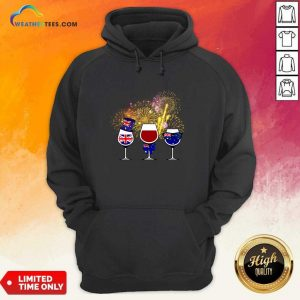 Three Wine England Flag Happy Hoodie - Design By Weathertees.com