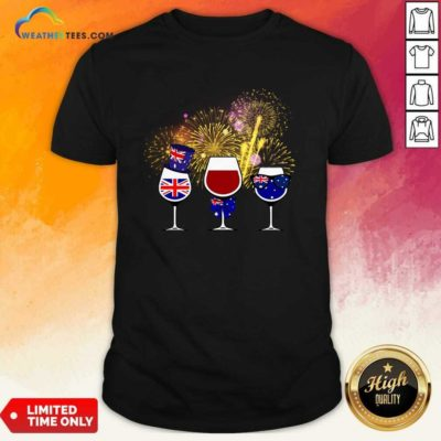 Three Wine England Flag Happy Shirt - Design By Weathertees.com
