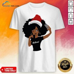 Black Girl Magic Natural Merry Christmas Shirt - Design By Weathertees.com