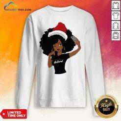 Black Girl Magic Natural Merry Christmas Sweatshirt - Design By Weathertees.com