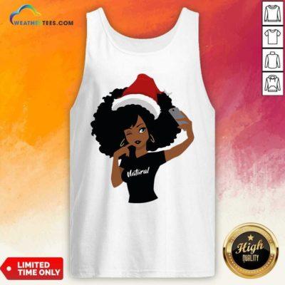 Black Girl Magic Natural Merry Christmas Tank Top - Design By Weathertees.com