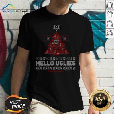 Hello Uglies Ugly Christmas V-neck - Design By Weathertees.com