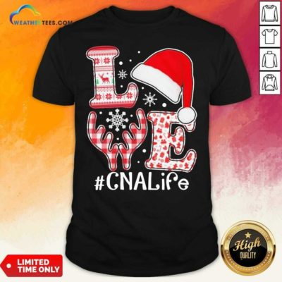 Love Hat Santa And Reindeer #CNA Life Worker Ugly Christmas Shirt - Design By Weathertees.com