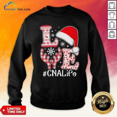Love Hat Santa And Reindeer #CNA Life Worker Ugly Christmas Sweatshirt - Design By Weathertees.com