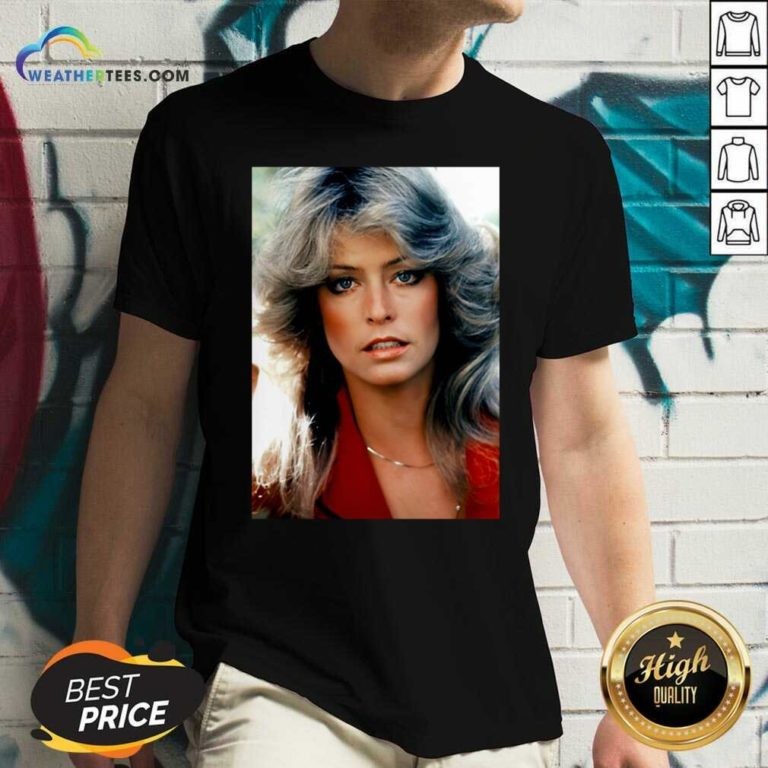 Orlando Brown Farrah Fawcett V-neck - Design By Weathertees.com