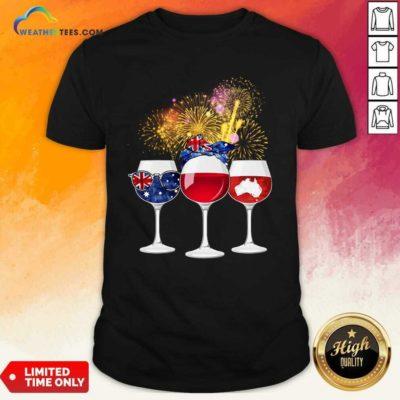 Three Wine England Flag Map Happy Shirt - Design By Weathertees.com