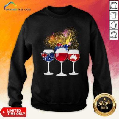 Three Wine England Flag Map Happy Sweatshirt - Design By Weathertees.com
