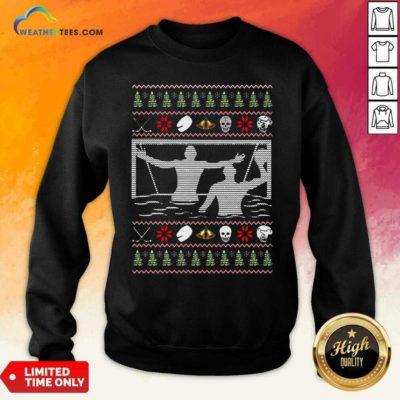 Water Polo Ugly Christmas Sweatshirt - Design By Weathertees.com