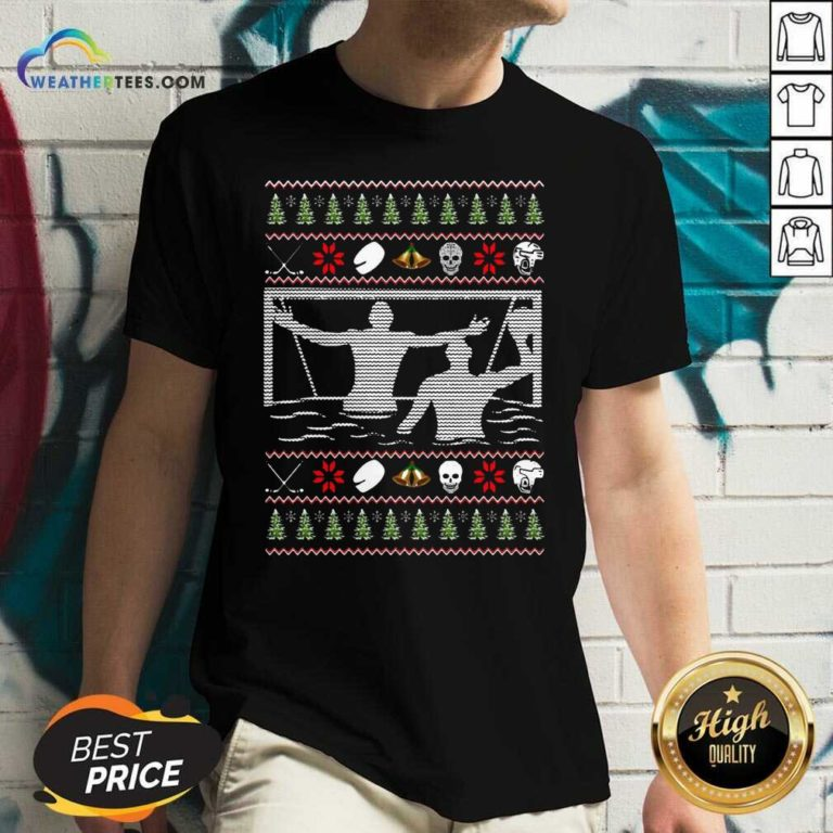 Water Polo Ugly Christmas V-neck - Design By Weathertees.com