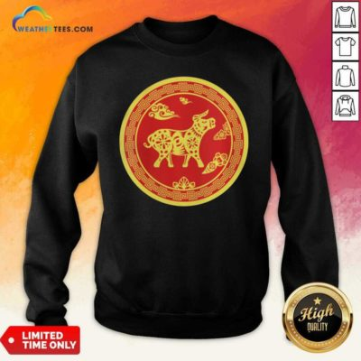 Year Of The Ox 2021 Happy New Year Sweatshirt - Design By Weathertees.com