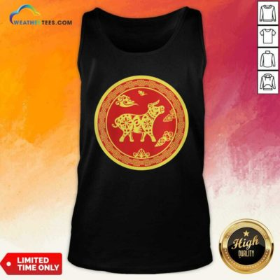 Year Of The Ox 2021 Happy New Year Tank Top - Design By Weathertees.com