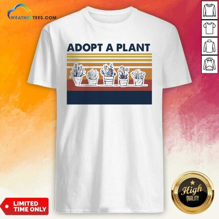 Adopt A Plant Vintage Retro Shirt - Design By Weathertees.com